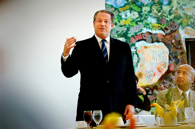 Al Gore par Tulane Public Relations, via Flickr CC